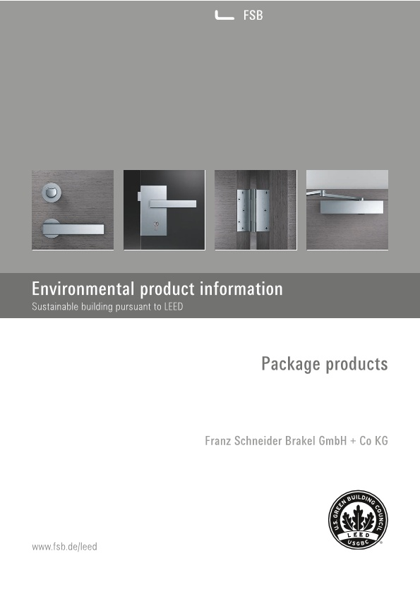 Environmental product information – Sustainable building pursuant to LEED